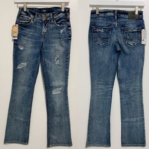 3/$25 Silver Jeans AIKO Slim Bootcut Jeans Size 26